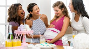 Feature | Loving friends of pregnant woman happiness| Fun Games For Baby Shower That Moms And Guests Will Love