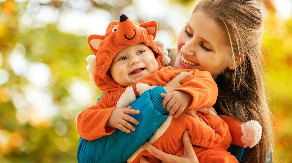 Feature | young woman her baby son autumn | Cutest Baby Halloween Costumes To Make For Your Little One | toddler cat costume