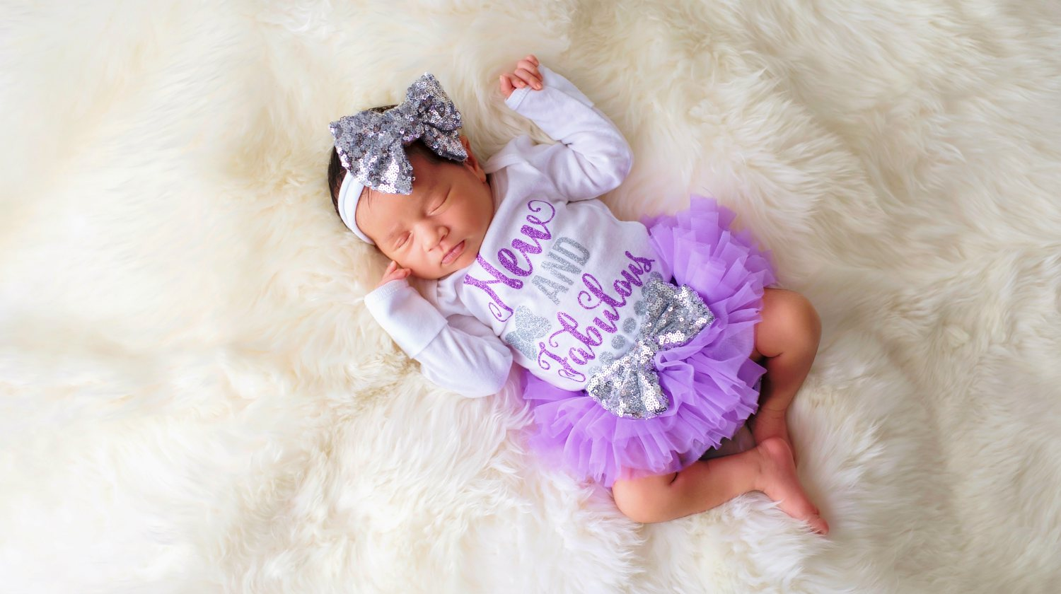 Feature | Newborn Wearing New and Fabulous Onesie | Cutest Baby Girl Coming Home Outfits | Newborn girl coming home outfits