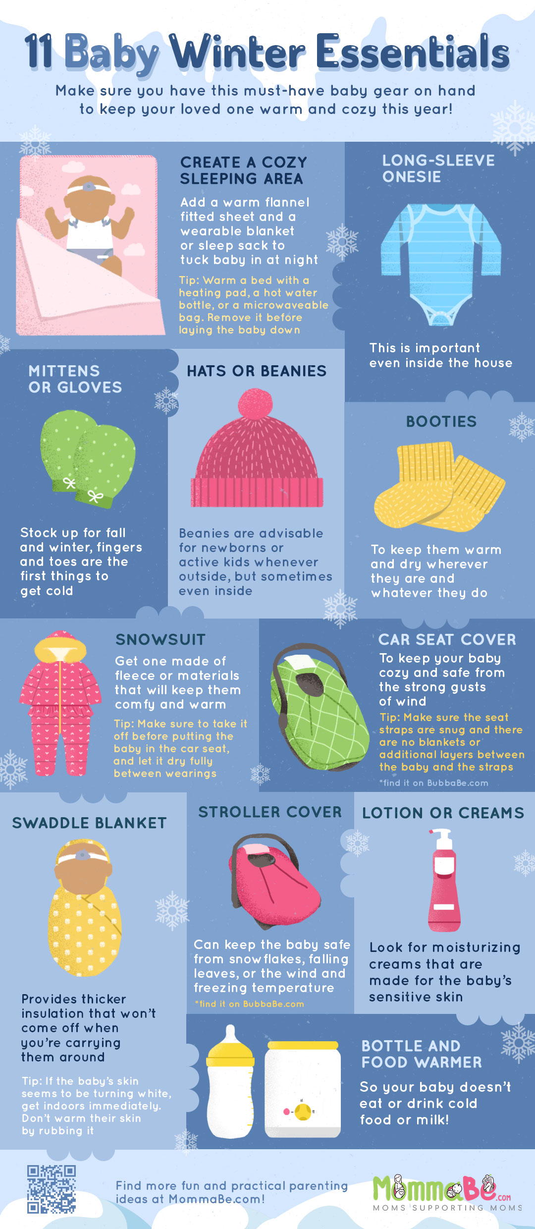 infographic | 9 Must-Have Baby Gear For Fall And Winter