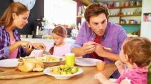 Feature | Family Eating Together | Healthy Food Serving Size For Toddlers And Kids | serving size guide