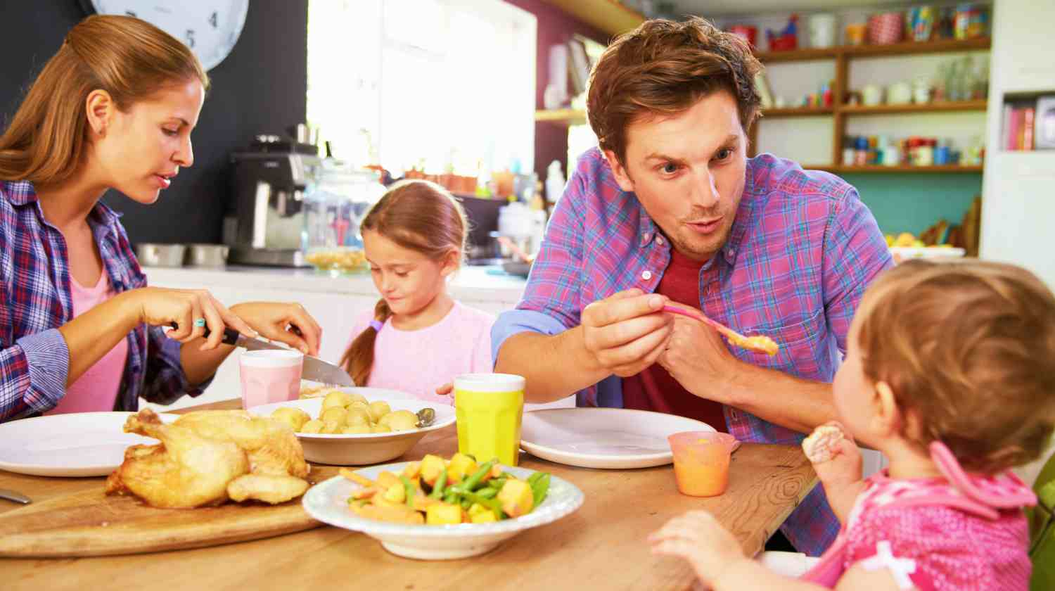 Feature   Family Eating Together   Healthy Food Serving Size For Toddlers And Kids   serving size guide