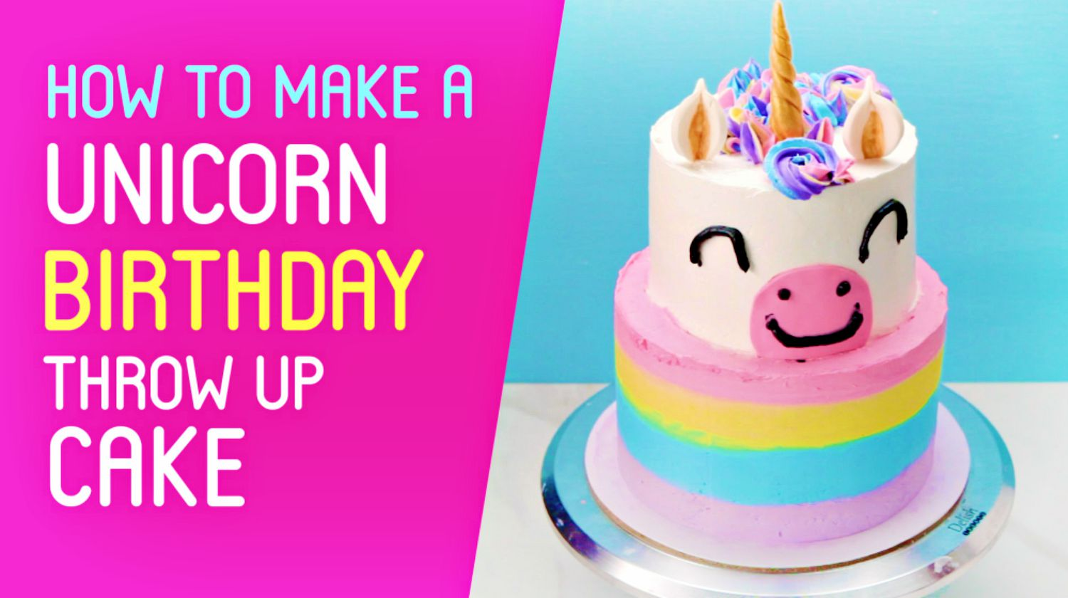 Feature | Homemade unicorn cake | Unicorn Throw Up Cake | How To Make A Unicorn Birthday Cake and Cupcakes